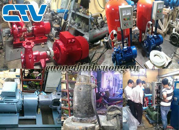 Lắp đặt hệ thống máy bơm công nghiệp cho các tòa nhà, khu chế biến sản xuất.