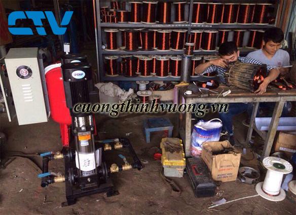 Cho thuê máy bơm trục đứng để bơm nước cho hệ thống tăng áp